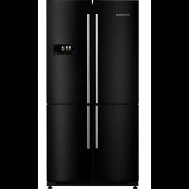 Rangemaster SXS RSXS18BL/C American Fridge Freezer - Black