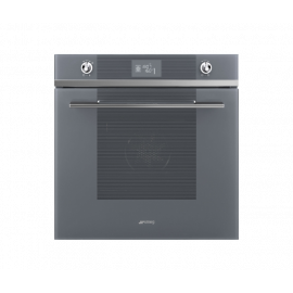 Smeg Linea Multifunction Oven Silver SF6102TVS Silver Glass