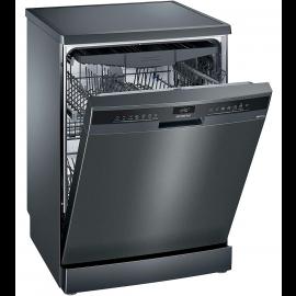 SIEMENS iQ300, Free-standing dishwasher, 60 cm, Black inox SN23EC14CG
