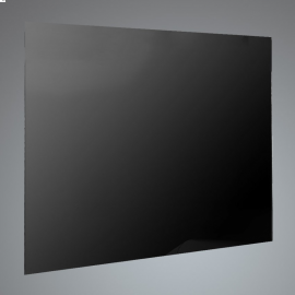 Luxair SPLASH70BLK 70cm Black Glass Splashback