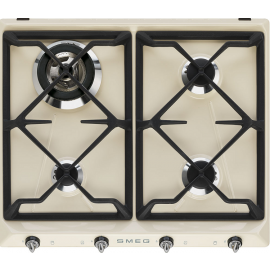 Smeg SR964PGH 60cm Victoria Traditional Gas Hob Cream