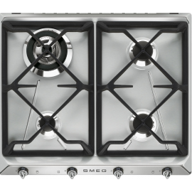Smeg SR964XGH 60cm Victoria Traditional Gas Hob Stainless Steel