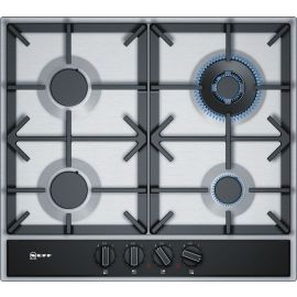 NEFF T26DA59N0 60 Cm Gas Hob With Rotary Switches, Stainless Steel