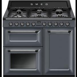Smeg TR103GR 100 Dual Fuel Victoria Range Cooker in Slate Grey