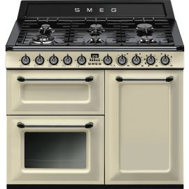 SMEG TR103P 100cm Victoria Traditional Dual fuel 3 cavity Cooker with Gas hobs