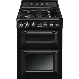 Smeg TR62BL 60cm Dual Fuel Freestanding Cooker Black