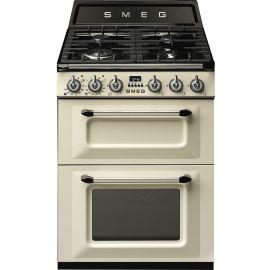 Smeg TR62P 60cm Freestanding Dual Fuel Cooker Cream