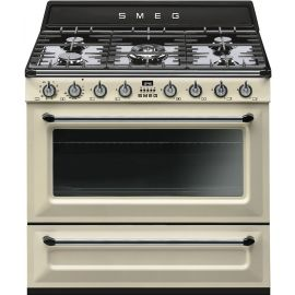 "SMEG TR90P9 90cm ""Victoria"" Traditional Dual fuel single cavity Cooker with Gas hob"