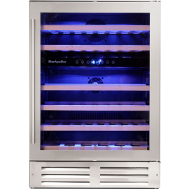 Montpellier WS46SDX 46 Bottle Dual Zone Stainless Steel Wine Cooler