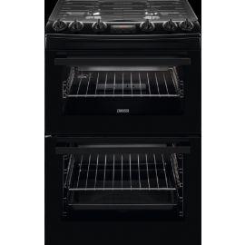 Zanussi ZCG63250BA Freestanding 60cm Double Oven Gas Cooker Black
