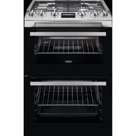 Zanussi ZCG63250XA Freestanding 60cm Double Oven Gas Cooker Stainless Steel
