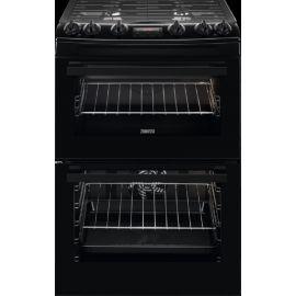 Zanussi ZCK66350BA Freestanding 60cm Dual Fuel Cooker Black