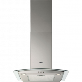 Zanussi ZHC62352X 60cm Curved Glass Chimney Hood Stainless Steel